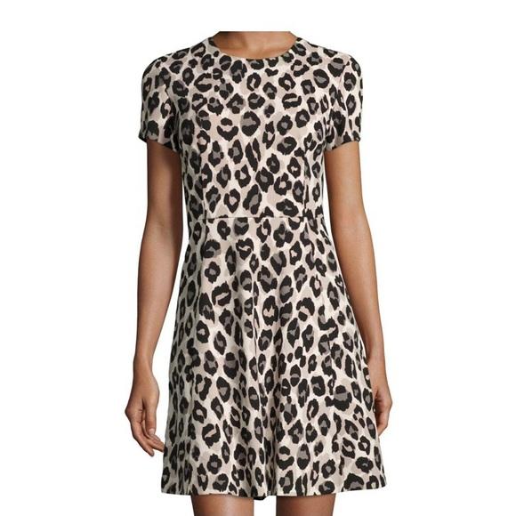 Eliza J Fit & Flare Leopard Print Dress